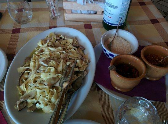 Santa Domenica Talao, Italie : Pappardelle ai porcini
