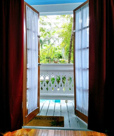"Key West Harbor Inn: Looking out from the ""Tobago"" suite"