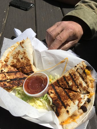 Salisbury, NC: Chicken quesadilla!