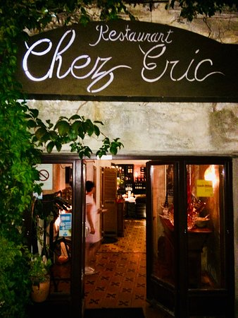 The entrance to Chez Eric