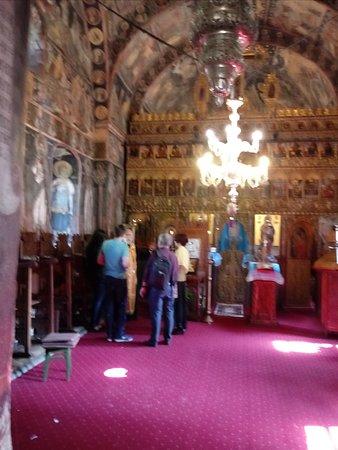 The interior of the Mogosoaia Church near Mogosoaia Palace
