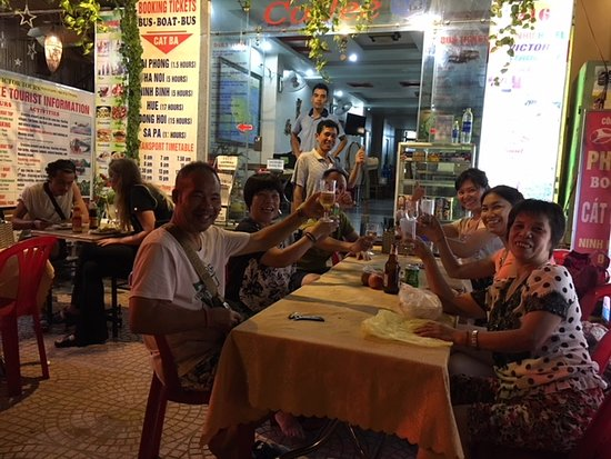 Raising a cheer with our guests at Victor Restaurant