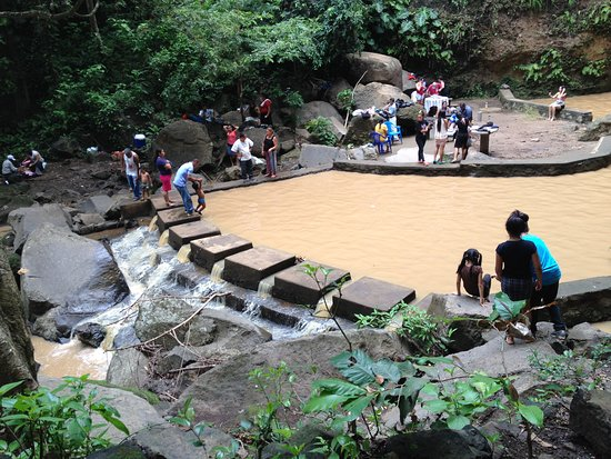 Santo Domingo, El Salvador: Pool at the bottom of the falls