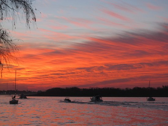 San Isidro, Argentina: The perfect sunset from the water