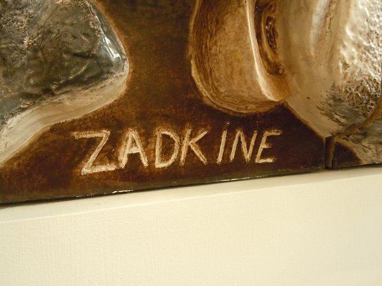 Fresques dossip zadkine au bureau de poste photo de 20ème