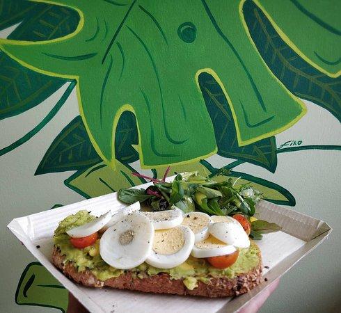Betty's avocado and egg toast