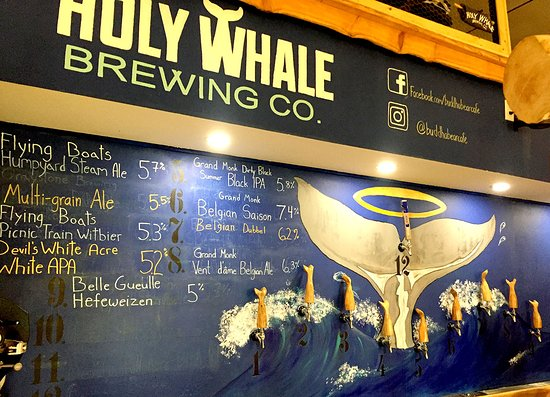 Holy Whale Brewery: Whale tail tap handles