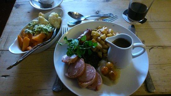 Woolhope, UK: Pork loins with crab apples and seasonal veg