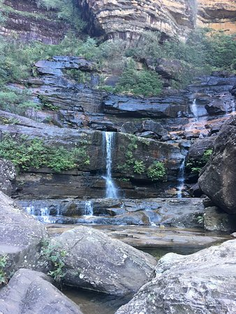 at the bottom of Wentworth falls