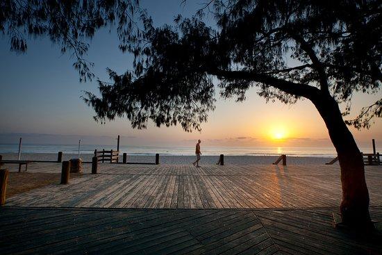 Broadbeach boardwalk at sunrise