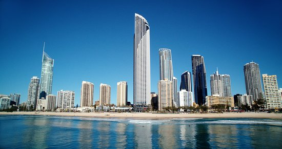 Surfers Paradise from the water