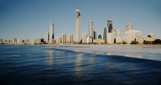 Surfers Paradise from the sea