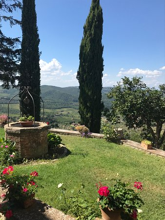 Scenic wine tours in Tuscany: Gorgeous view of the Tuscan countryside!!