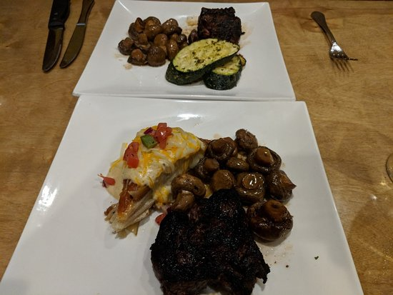Prescott Station: Ribeye cap steaks and sides...WOW!...Crazy Good:)