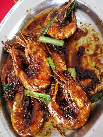 Kuala Sepetang, Малайзия: Fresh prawns