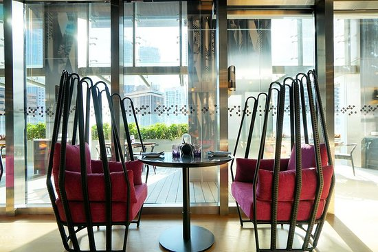 Fantastic Twin Seat At Flock Picture Of Flock At W Kuala Lumpur Bralicious Painted Fabric Chair Ideas Braliciousco