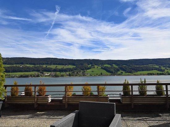 Le Sentier, Szwajcaria: Vue depuis la terasse de la chambre