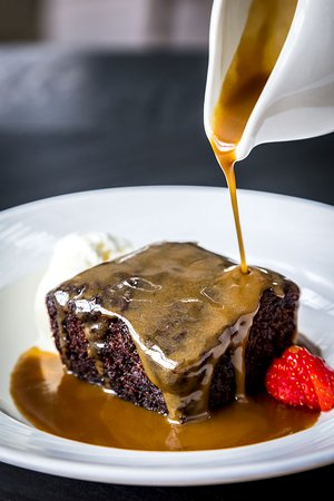 Dave's famous sticky toffee pudding