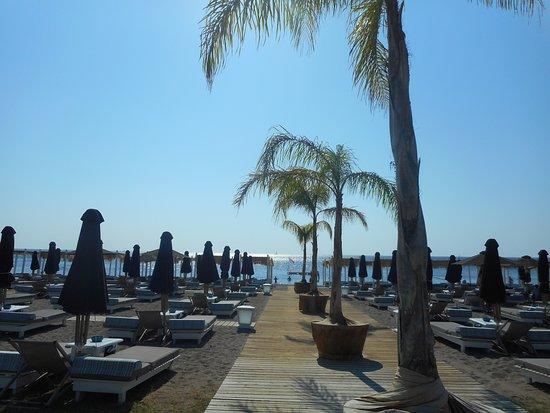 Ammades Seaside Restaurant & Bar: бар на плажи