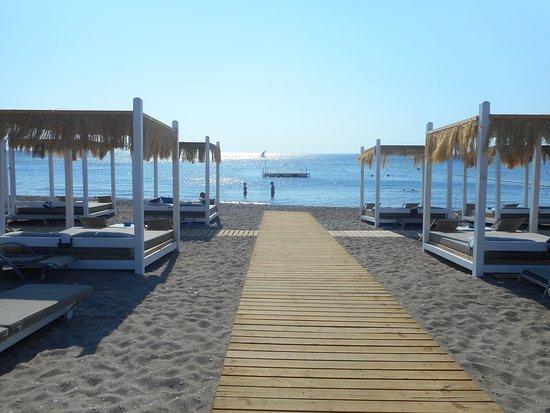 Ammades Seaside Restaurant & Bar: лежаљке