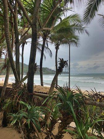 Looking from hotel boundary to Kamala beach