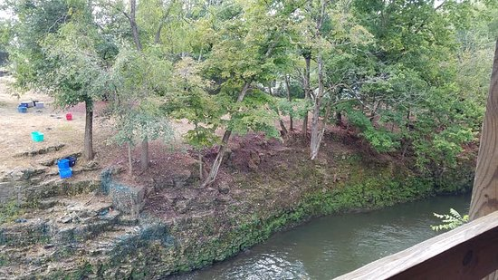 Clifton, OH: Banks of creek