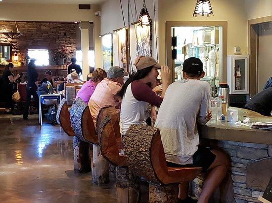 Jeremiah's Restaurant: log stools