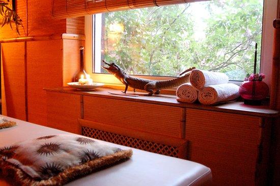 Ольгино, Россия: окно в массажном кабинете
