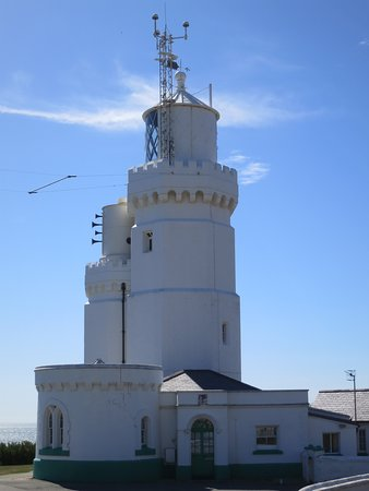 St Catherine's Lighthouse: Amusing looking foghorn trumpets