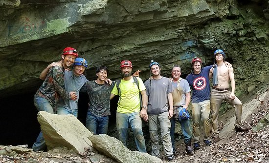 River and Earth Adventures, Inc: Great Groomsmen's Trip at Worley's Cave!