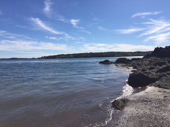 Beach at the Deer Island Park campground