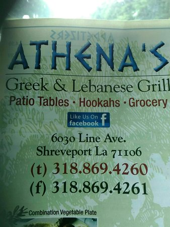 Athena Greek & Lebanese Grill, Shreveport - Menu, Prices ...