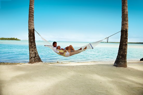 Cook Islands: Look no further – the beach at Aitutaki will have you swinging into relaxation mode.