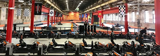 Wyomissing, PA: Our indoor electric go karts, reaching speeds up to 50 MPH