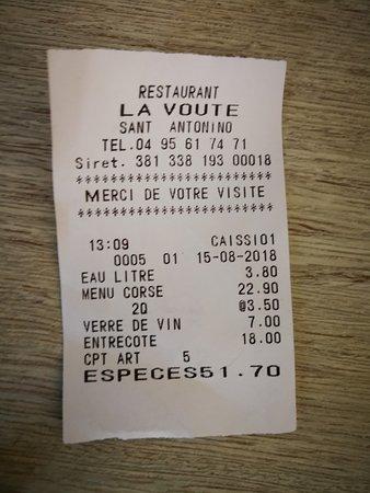 Sant'Antonino, Frankrijk: conto