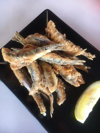 Abrassame: pescado en tempura