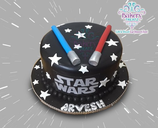 Marvelous Star Wars Birthday Cake Picture Of Bakery Treatz Chaguanas Birthday Cards Printable Riciscafe Filternl
