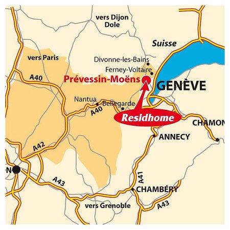 Prevessin, فرنسا: Map