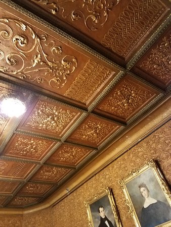 Lambert Castle: Coffered Ceiling In The Dining Room