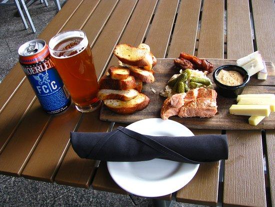 Moerlein Lager House: Meat & Cheese Board & beer