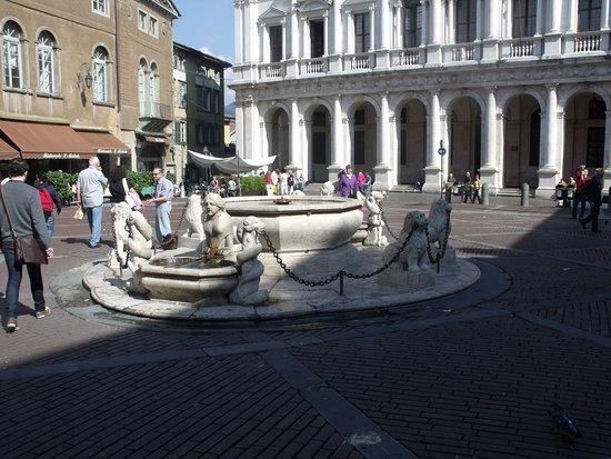 Piazza Vecchia: la fontana al centro della piazza