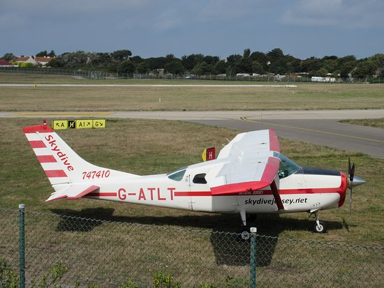 Jersey Aero Club: Used to fly her in 1971 from Norwich Airport