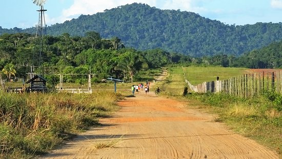 Surama Village, Guyana: The view from the village to the eco-lodge