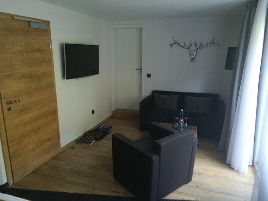 Willingen, ألمانيا: Wohnbereicht mit grossem Fernseher.