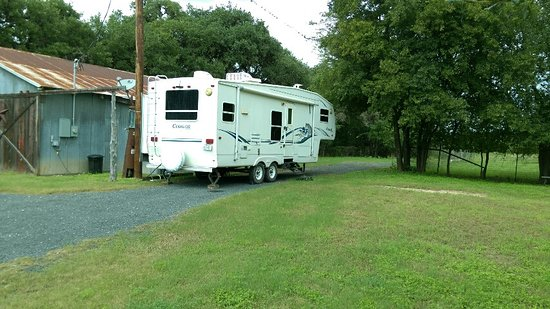 Utopia, TX: RV spot #1 with our RV pictured
