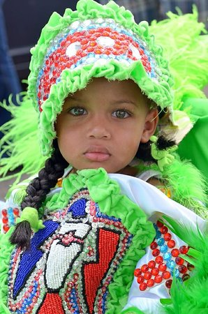 This lovely photo of a little Mardi Gras Indian by Kim Welsh was one of our favorites from our annual Mardi Gras Photo Contest. Read about Mardi Gras traditions on our site, mardigrasneworleans.com and go see the fabulous Carnival exhibit at the Presbytere on Jackson Square.