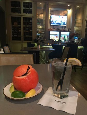 Bar Peters' Spritz, served in a grapefruit.