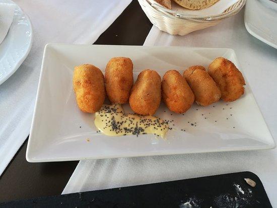 Restaurante Benavent: Croquetas de jamón caseras