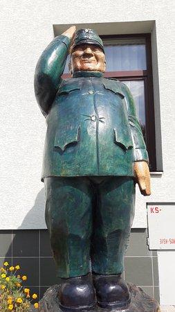 Medzilaborce, Slovakia: Statue- Soldier Svejk