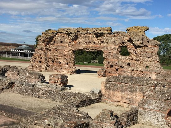 Wroxeter, UK: View across the baths.